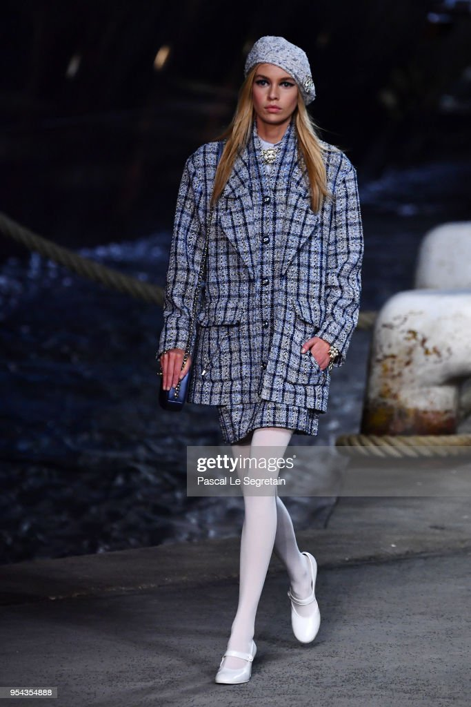 Stella Maxwell walks the runway during Chanel Cruise 2018/2019 Collection at Le Grand Palais on May 3, 2018 in Paris, France.