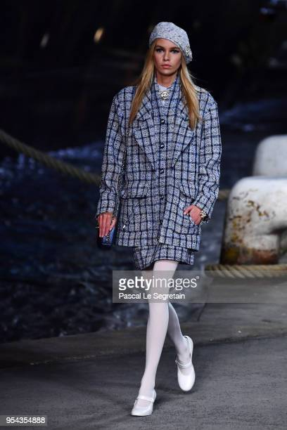 Stella Maxwell walks the runway during Chanel Cruise 2018/2019 Collection at Le Grand Palais on May 3 2018 in Paris France