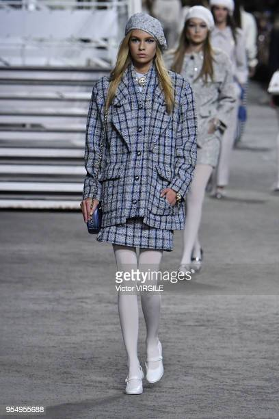 Stella Maxwell walks the runway during Chanel Cruise 2018/2019 Collection fashion show at Le Grand Palais on May 3 2018 in Paris France