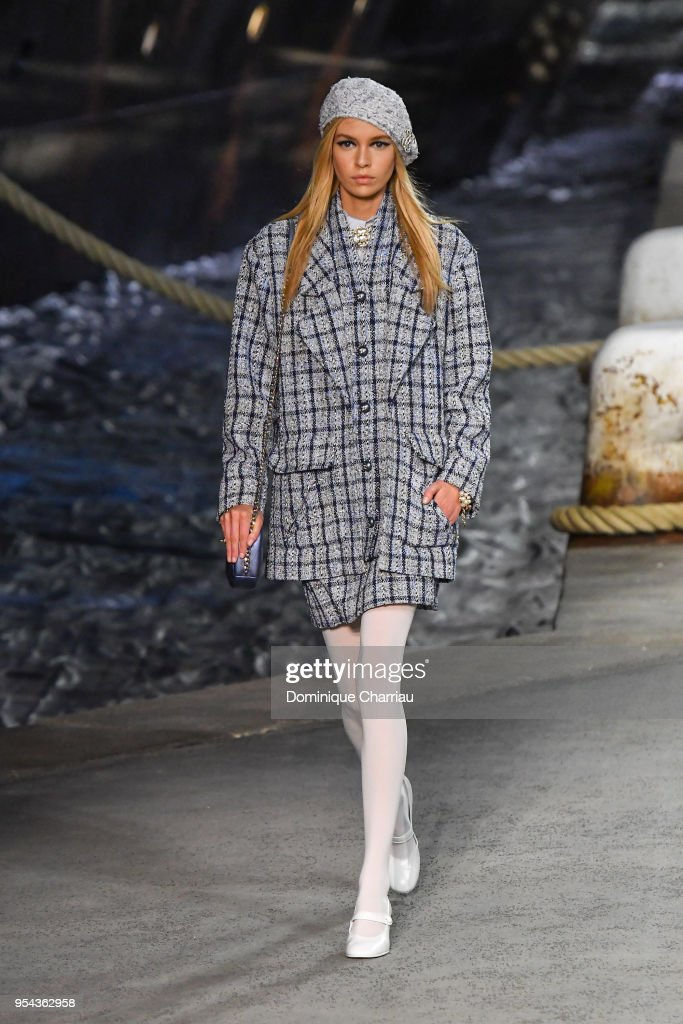 Stella Maxwell walks the runway during the Chanel Cruise 2018/2019 Collection at Le Grand Palais on May 3, 2018 in Paris, France.
