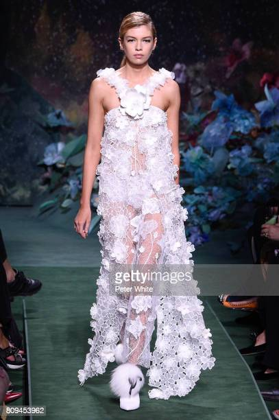 Stella Maxwell walks the runway during the Fendi Haute Couture Fall/Winter 20172018 show as part of Haute Couture Paris Fashion Week on July 5 2017...