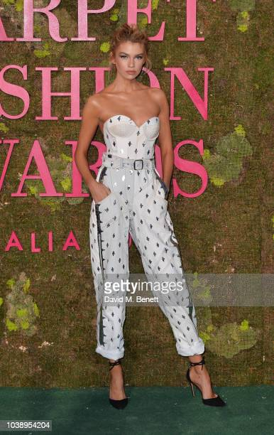 Stella Maxwell wearing Philosophy attends The Green Carpet Fashion Awards Italia 2018 at Teatro Alla Scala on September 23 2018 in Milan Italy
