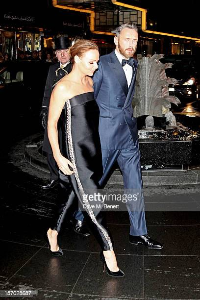 Stella McCartney and Alasdhair Willis arrive by MercedesBenz to the British Fashion Awards 2012 at The Savoy Hotel on November 27 2012 in London...