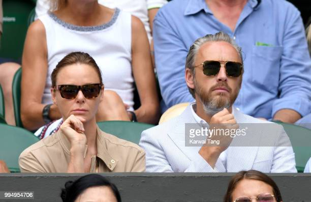 Stella McCartney and Alasdhair Willis attend day seven of the Wimbledon Tennis Championships at the All England Lawn Tennis and Croquet Club on July...