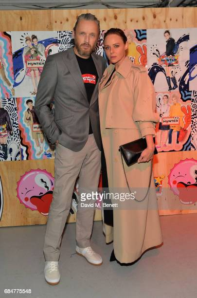 Stella McCartney and Alasdhair Willis attend the Hunter Festival Kick Off Party on May 18 2017 in London England