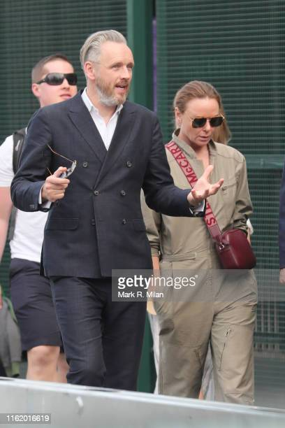 Stella McCartney and Alasdhair Willis attending Men's Final Day at the Wimbledon 2019 Tennis Championships at All England Lawn Tennis and Croquet...