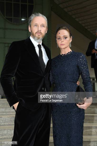 Stella McCartney and Alasdhair Willis pose prior the Karl Lagerfeld Homage at Grand Palais on June 20, 2019 in Paris, France.