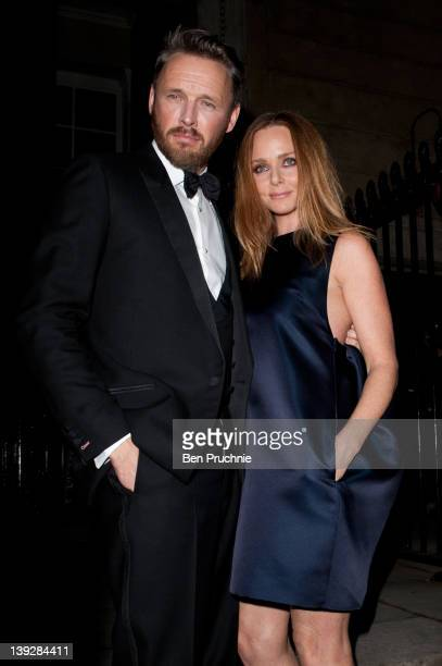 Stella Mccartney and Alasdhair Willis sighted during Autumn/Winter 2012 London Fashion Week on February 18 2012 in London England