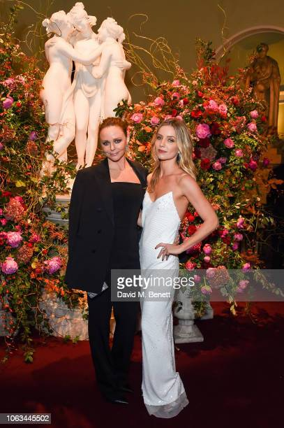 Stella McCartney and Annabelle Wallis attend The 64th Evening Standard Theatre Awards at the Theatre Royal Drury Lane on November 18 2018 in London...