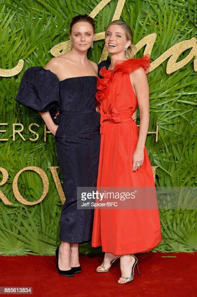 Stella McCartney and Annabelle Wallis attend The Fashion Awards 2017 in partnership with Swarovski at Royal Albert Hall on December 4 2017 in London...