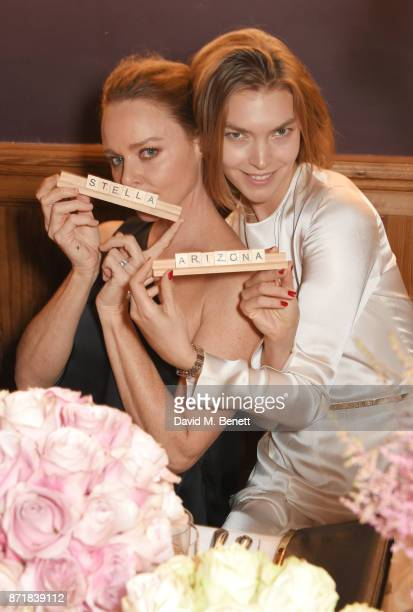 Stella McCartney and Arizona Muse attend a private dinner hosted by NETAPORTER and Stella McCartney to celebrate the launch of the Stella McCartney x...