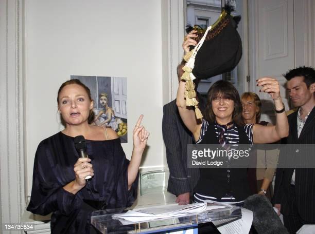Stella McCartney and Chrissie Hynde during PETA's Humanitarian Awards Inside at 30 Bruton Street in London Great Britain