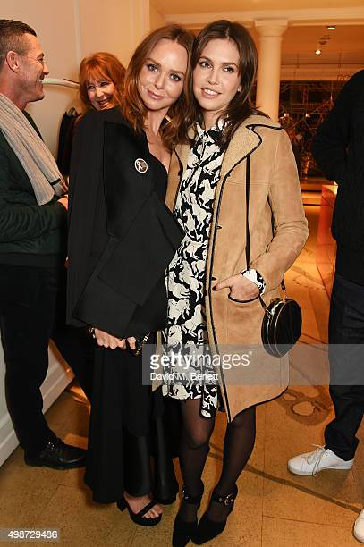 Stella McCartney and Dasha Zhukova attend the Stella McCartney Christmas Lights switch on at the Stella McCartney Bruton Street Store on November 25...