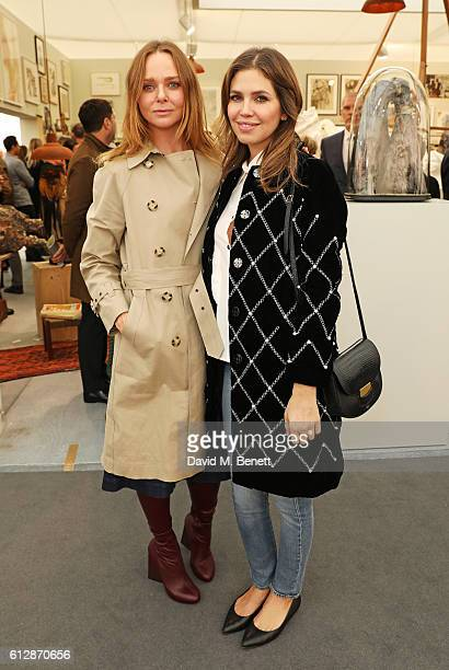 Stella McCartney and Dasha Zhukova attend the VIP private view of the Frieze Art Fair 2016 in Regent's Park on October 5 2016 in London England