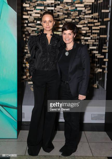 Stella McCartney and Ellen MacArthur attend the launch of the Circular Fibres Initiate Report 'Towards A New Textiles Economy' hosted by Dame Ellen...