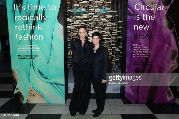 Stella McCartney and Ellen MacArthur during the 'Creating A Future For Fashion' VIP launch cohosted by Dame Ellen Macarthur and Stella McCartney at...