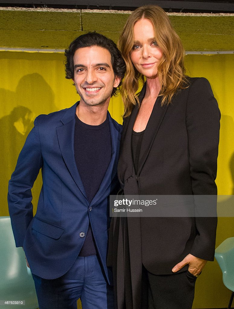 Stella McCartney and Imran Amed attend a Stella McCartney interview with Imran Amed of The Business of Fashion on March 25, 2015 in London, England.
