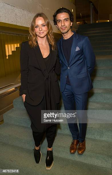 Stella McCartney and Imran Amed attend an interview for The Business of Fashion on March 25 2015 in London England