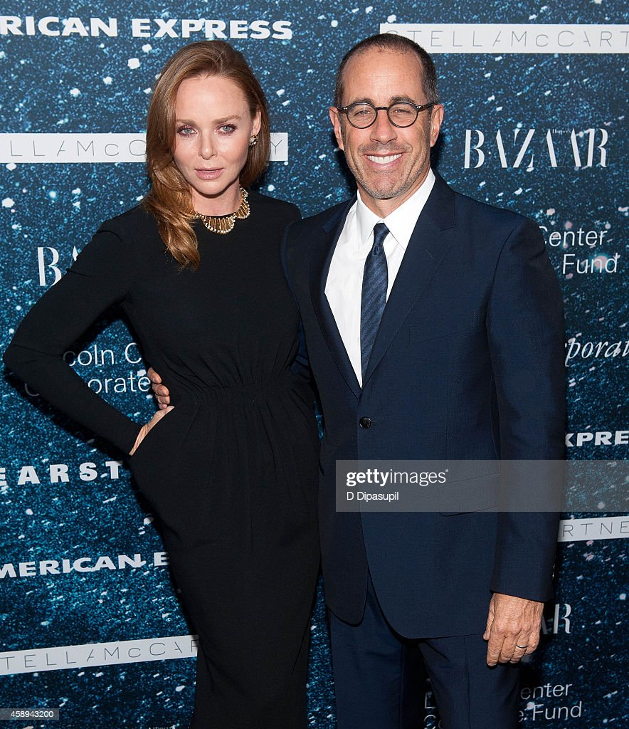 Stella McCartney (L) and Jerry Seinfeld attend the 2014 Women's Leadership Award Honoring Stella McCartney at Alice Tully Hall at Lincoln Center on November 13, 2014 in New York City.