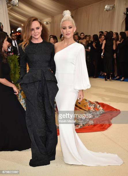 Stella McCartney and Kate Hudson attend the 'Rei Kawakubo/Comme des Garcons Art Of The InBetween' Costume Institute Gala at Metropolitan Museum of...