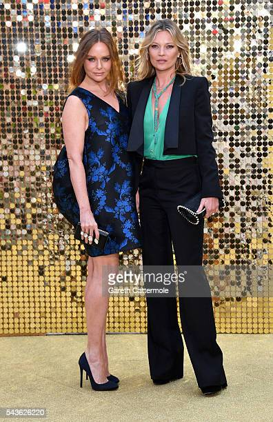Stella McCartney and Kate Moss attend the 'Absolutely Fabulous The Movie' World Premiere at the Odeon Leicester Square on June 29 2016 in London...