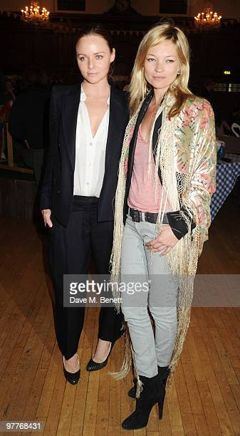 Stella McCartney and Kate Moss attend the launch for Stella McCartney's collection for GAP at the Porchester Hall on March 16 2010 in London England
