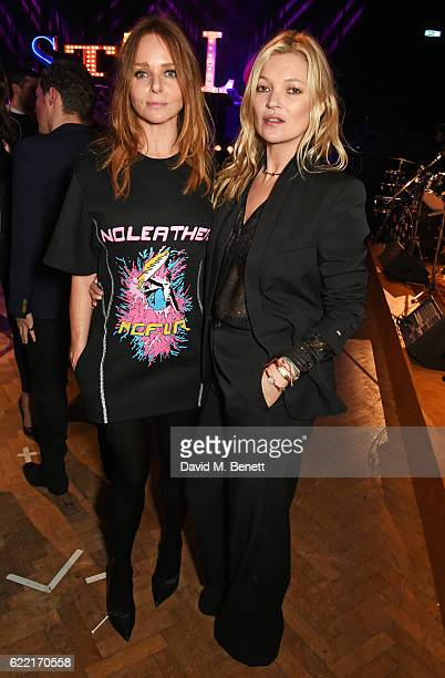 Stella McCartney and Kate Moss attend the Stella McCartney Menswear launch and Women's Spring 2017 collection presentation at Abbey Road Studios on...