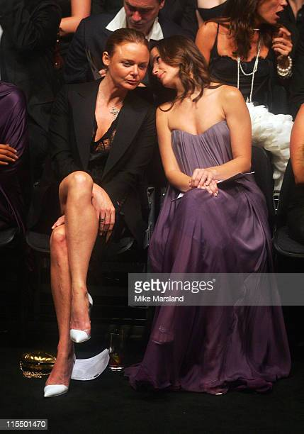 Stella McCartney and Kristin Davis during Alexander McQueen American Express Black Fashion Show at Earls Court in London Great Britain