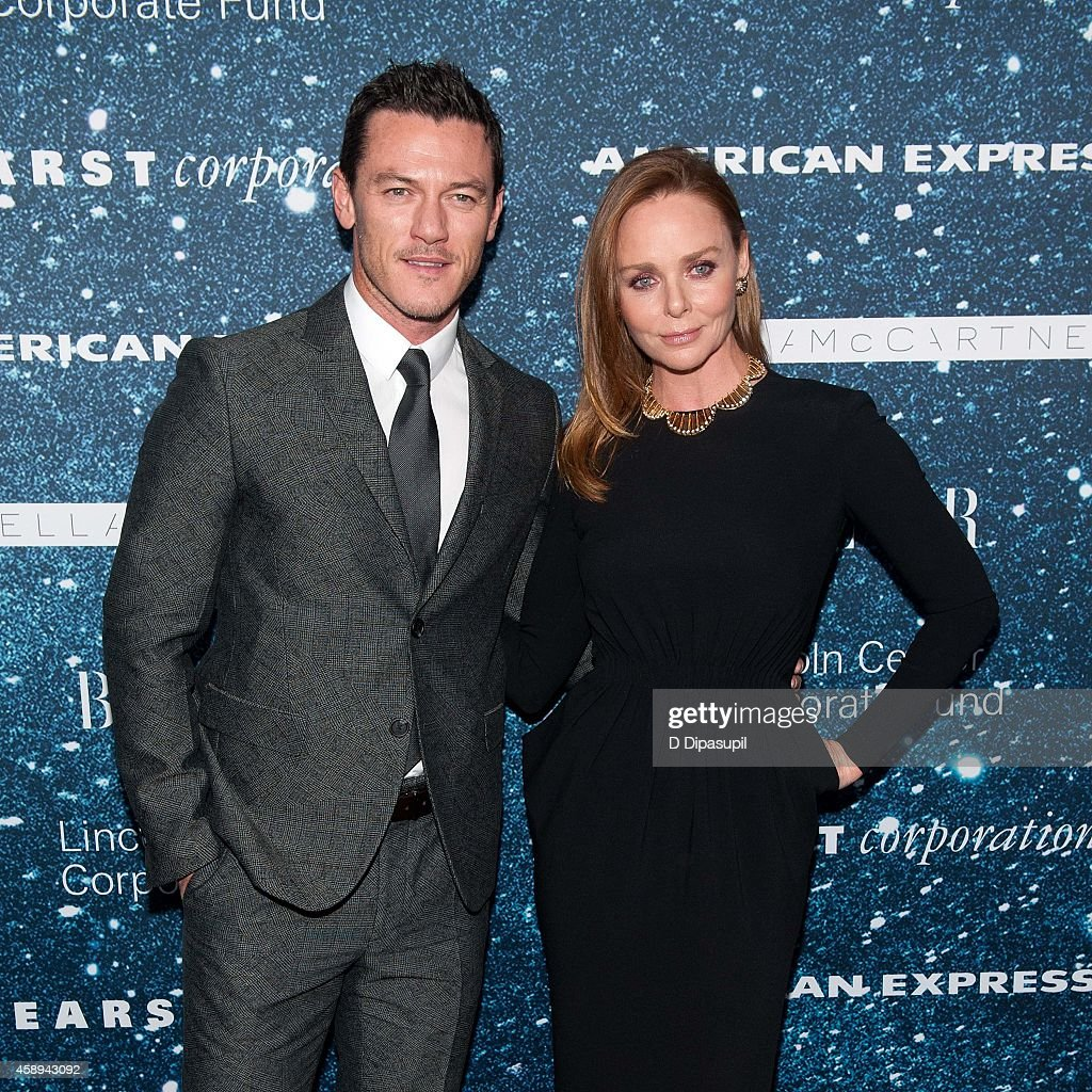 Stella McCartney (R) and Luke Evans attend the 2014 Women's Leadership Award Honoring Stella McCartney at Alice Tully Hall at Lincoln Center on November 13, 2014 in New York City.