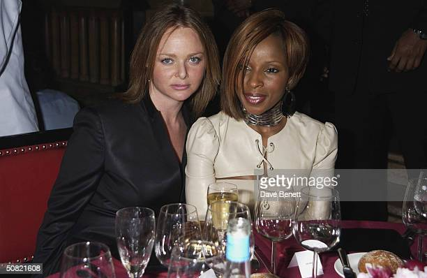 Stella McCartney and Mary J Blige attend the MAC Cosmetics Charity Party to support Aids in London in honour of Mary J Blige at The Criterion...