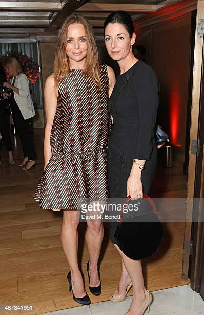 Stella McCartney and Mary McCartney attend a private dinner celebrating the Global Launch of the 'Kate Moss for TopShop Collection' at The Connaught...