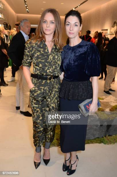 Stella McCartney and Mary McCartney attend the launch of the Stella McCartney Global flagship store on Old Bond Street on June 12 2018 in London...