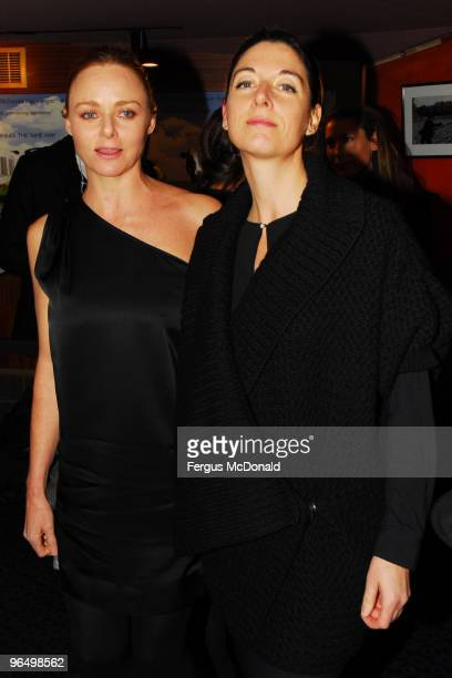 LR Stella McCartney and Mary McCartney attend the UK premiere for 'Food Inc' held the at The Curzon Mayfair on February 8 2010 in London England