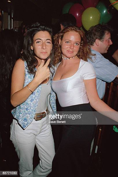 Stella McCartney and Mary McCartney the daughters of former Beatle Paul McCartney May 1992