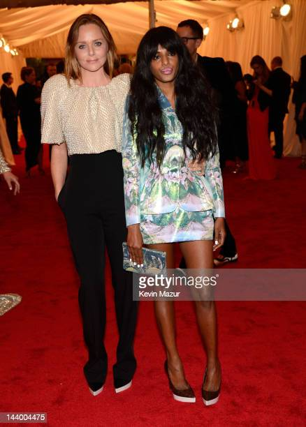 Stella McCartney and MIA attend the Schiaparelli And Prada Impossible Conversations Costume Institute Gala at the Metropolitan Museum of Art on May 7...
