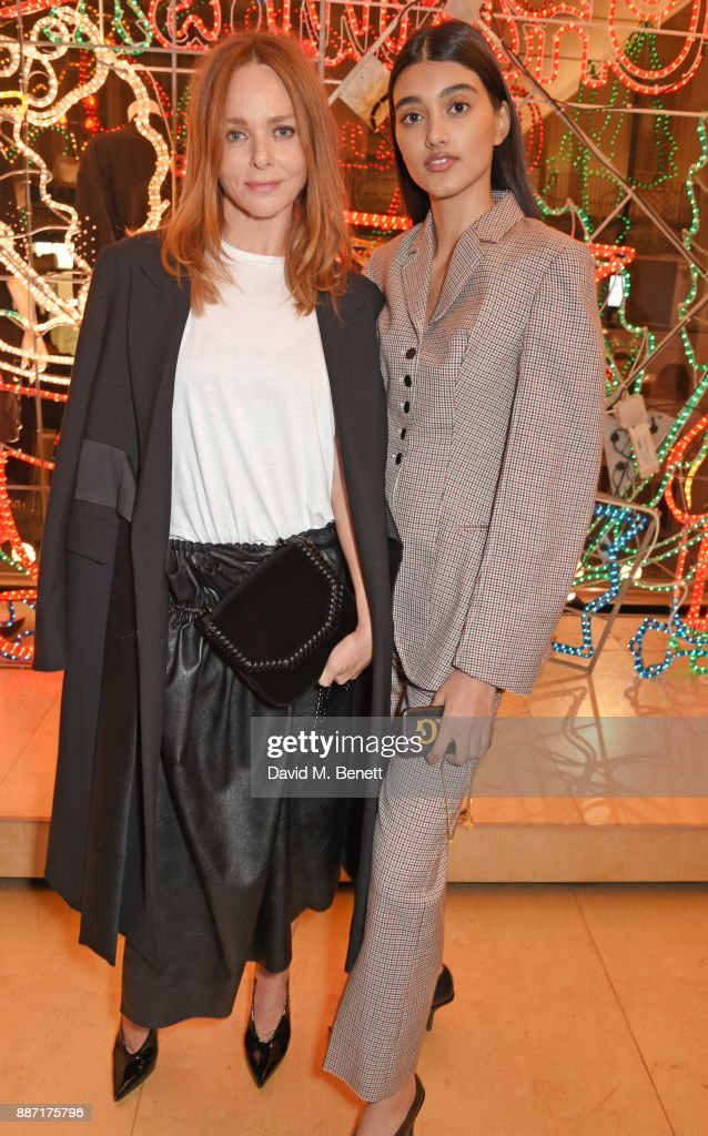 Stella McCartney (L) and Neelam Gill attend the Stella McCartney Christmas Lights 2017 party on December 6, 2017 in London, England.