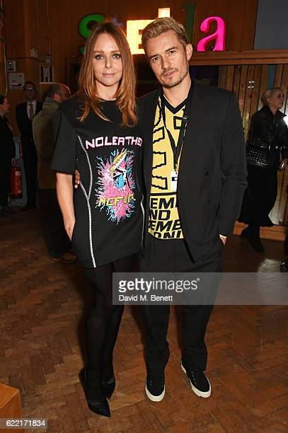 Stella McCartney and Orlando Bloom attend the Stella McCartney Menswear launch and Women's Spring 2017 collection presentation at Abbey Road Studios...