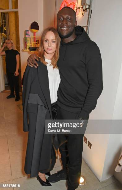 Stella McCartney and Stormzy attend the Stella McCartney Christmas Lights 2017 party on December 6 2017 in London England