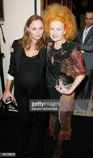 Stella McCartney and Vivienne Westwood attend the British Fashion Awards at the Royal Horticultural Halls on November 27, 2007 in London, England.