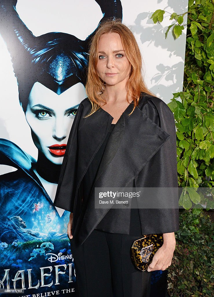 Stella McCartney arrives at a private reception as costumes and props from Disney's 'Maleficent' are exhibited in support of Great Ormond Street Hospital at Kensington Palace on May 8, 2014 in London, England.