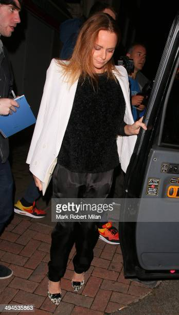 Stella McCartney at the Chiltern Firehouse on May 29 2014 in London England