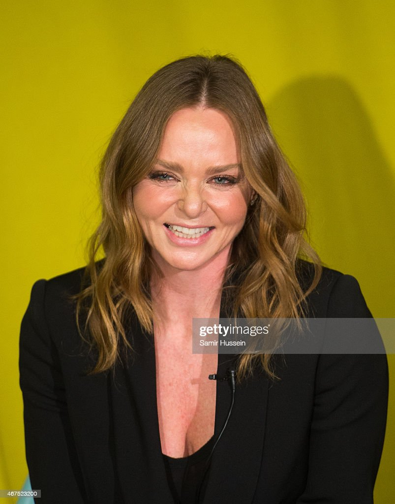 Stella McCartney attends a Stella McCartney interview with Imran Amed of The Business of Fashion on March 25, 2015 in London, England.