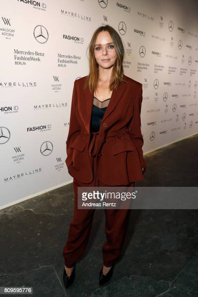 Stella McCartney attends the 'Designer for Tomorrow' show during the MercedesBenz Fashion Week Berlin Spring/Summer 2018 at Kaufhaus Jandorf on July...
