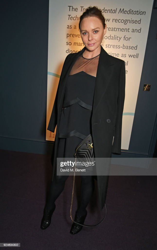 Stella McCartney attends the launch of Bob Roth's 'Strength in Stillness' hosted by Stella McCartney and Liv Tyler at Wellington Arch on February 26, 2018 in London, England.