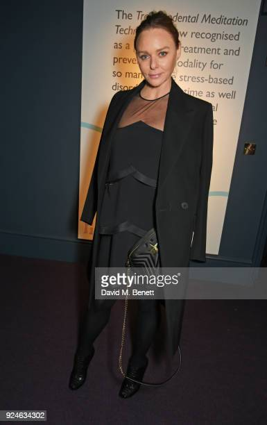 Stella McCartney attends the launch of Bob Roth's 'Strength in Stillness' hosted by Stella McCartney and Liv Tyler at Wellington Arch on February 26...