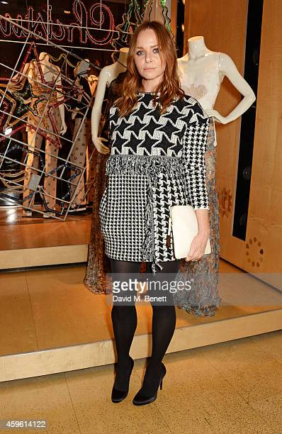 Stella McCartney attends the Stella McCartney Christmas Lights Switch On at the Stella McCartney Bruton Street Store on November 26 2014 in London...
