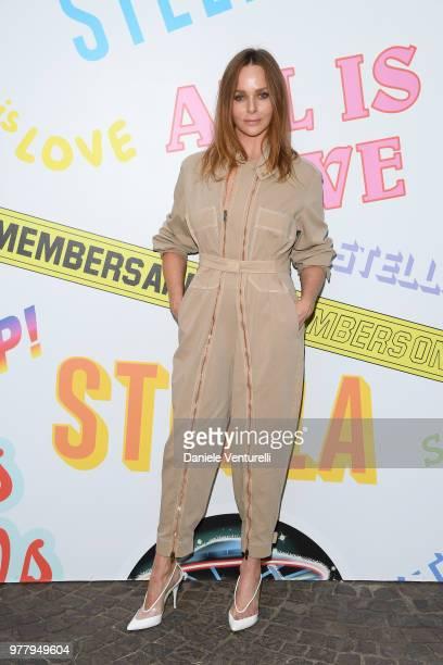 Stella McCartney attends the Stella McCartney photocall during Milan Men's Fashion Week Spring/Summer 2019 on June 18 2018 in Milan Italy