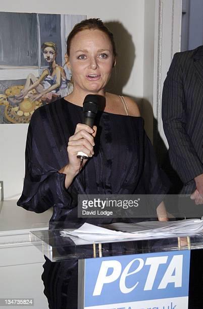Stella McCartney during PETA's Humanitarian Awards Inside at 30 Bruton Street in London Great Britain