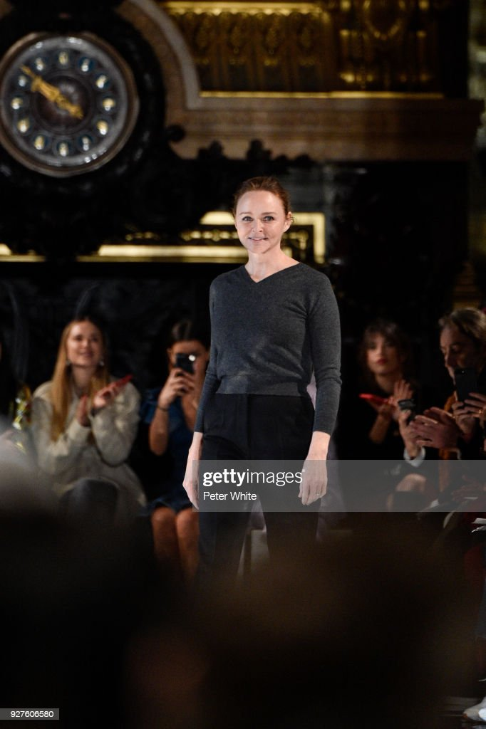 Stella McCartney during the Stella McCartney show as part of the Paris Fashion Week Womenswear Fall/Winter 2018/2019 on March 5, 2018 in Paris, France.