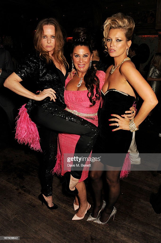 (L to R) Stella McCartney, Fran Cutler and Kate Moss attend Fran Cutler's surprise birthday party supported by ABSOLUT Elyx at The Box Soho on April 30, 2013 in London, England.